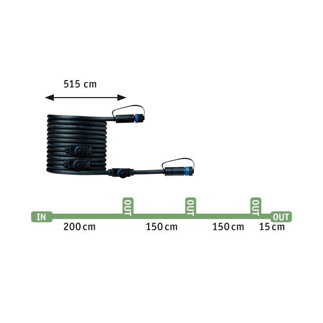 Paulmann Plug /& Shine Ergänzungsset Erdspieß Plantini IP653x2,5W 24V Anthrazit