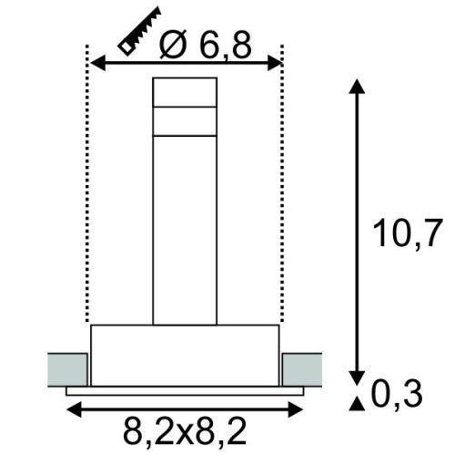 Hochvolt Einbauleuchten slv 113471 tria 68 einbauleuchte hochvolt qpar51 max 50w gu10