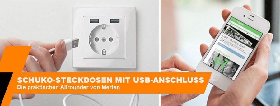Merten USB-Steckdosen